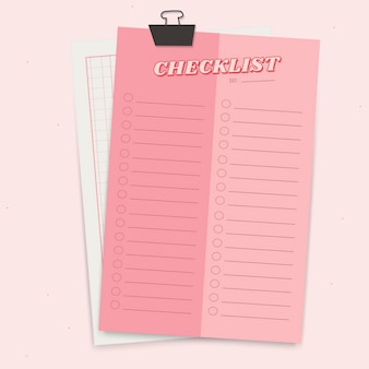 Planificador de bloc de notas rosa