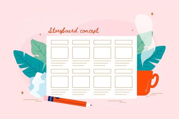 Planificador diario y semanal de storyboard