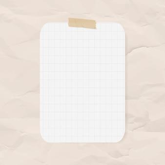 Planificador de pegatinas vector elemento de papel de cuadrícula