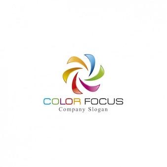Planitllla de logo colorido en espiral