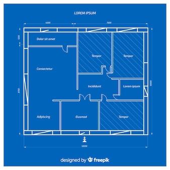 Plano arquitectónico de una casa