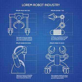 Plano de brazos de robot