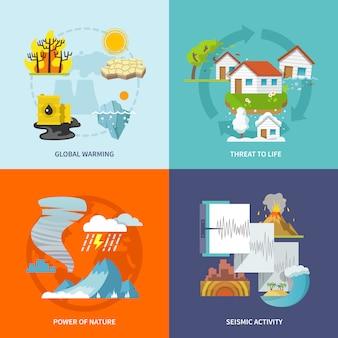 Plano de desastres naturales
