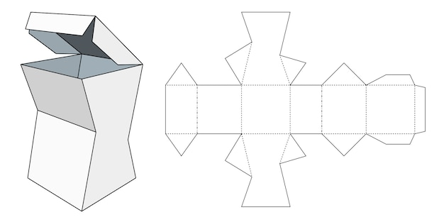 Plano de empaque. caja de cartón. plantilla de paquete