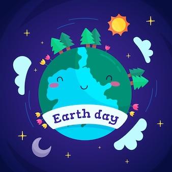 Plano lindo día de la madre tierra