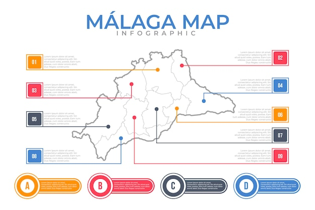 Plano lineal málaga mapa