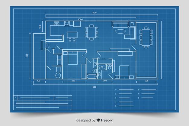 Plano moderno para el diseño de la casa