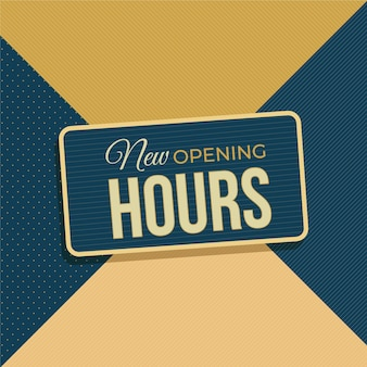 Plano nuevo cartel de horario de apertura