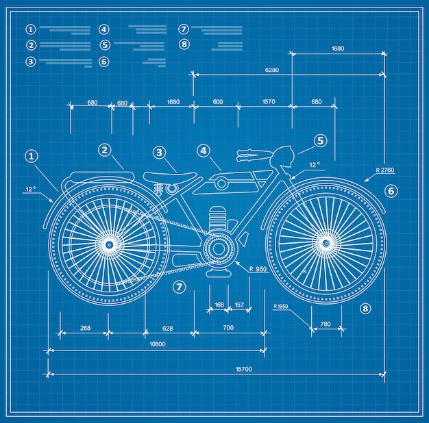 Plano de proyecto de esquema de proyecto de moto de moto.