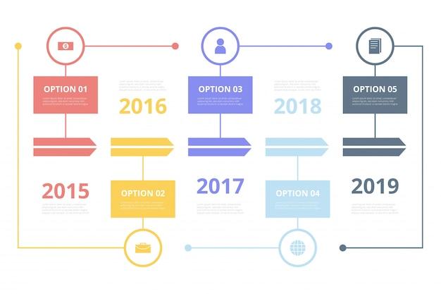 Plano de tiempo de infografia