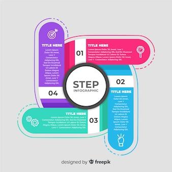 Planos pasos infográficos de negocios