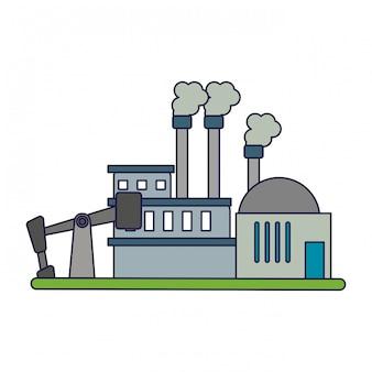 Planta de la industria de refinería