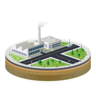 Planta industrial isométrica