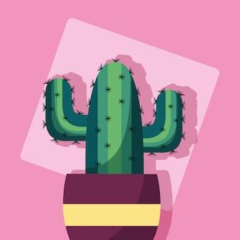 Plantas decorativas diseño de imagen plana