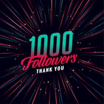 Plantilla de 1000 seguidores en redes sociales
