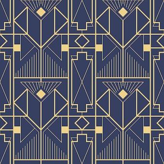 Plantilla abstracta art deco azul cs6