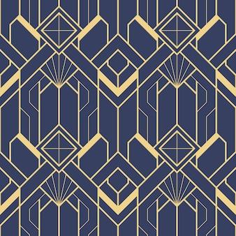 Plantilla abstracta art deco azul
