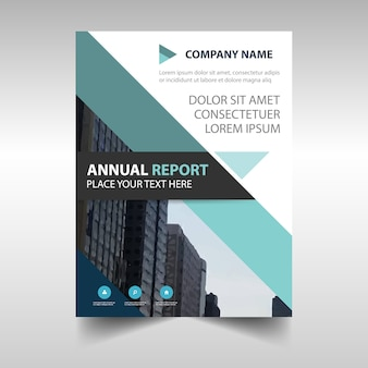 Plantilla abstracta en azul claro de un reporte anual
