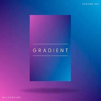 Plantilla abstracta del cartel del gradiente