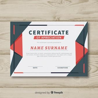Plantilla abstracta de certificado