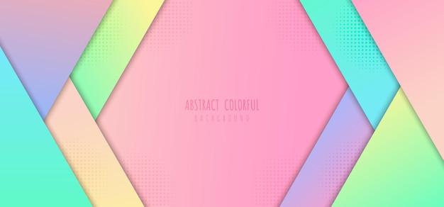 Plantilla abstracta de degradados de colores pastel diseño geométrico