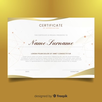 Plantilla abstracta diploma