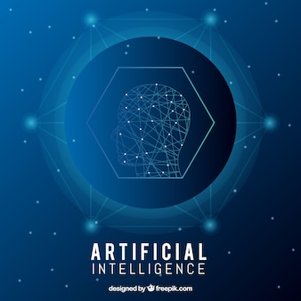 Plantilla abstracta de inteligencia artificial