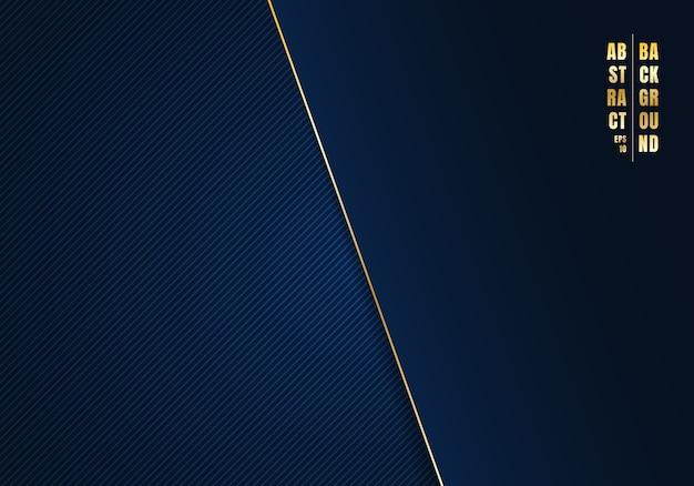 Plantilla abstracta líneas diagonales fondo azul