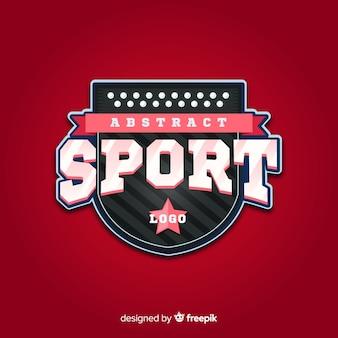 Plantilla abstracta de logotipo de deporte