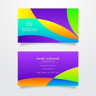 Plantilla abstracta con ondas para tarjeta de visita