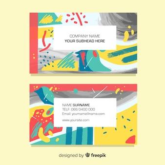 Plantilla abstracta pintada de la tarjeta de visita