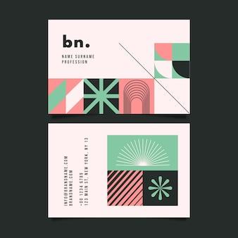 Plantilla abstracta de tarjeta de visita delantera y trasera