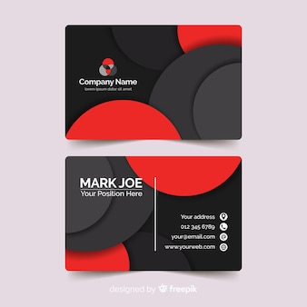 Plantilla abstracta de tarjeta de visita de estilo papel