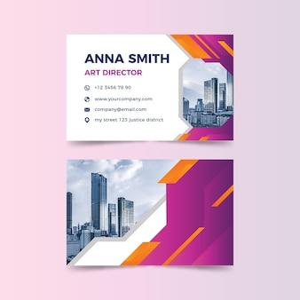 Plantilla abstracta de tarjeta de visita con imagen