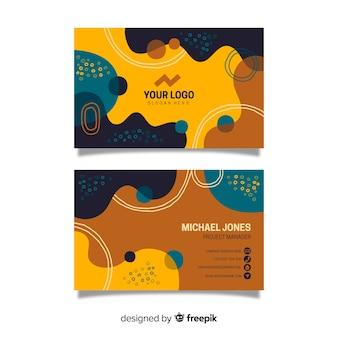 Plantilla abstracta de tarjeta de visita retro