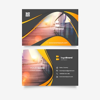 Plantilla abstracta para tarjeta de visita
