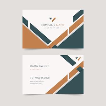 Plantilla abstracta de tarjeta de visita