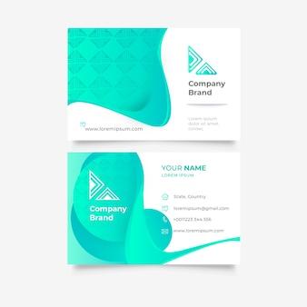 Plantilla abstracta vibrante para tarjeta de visita