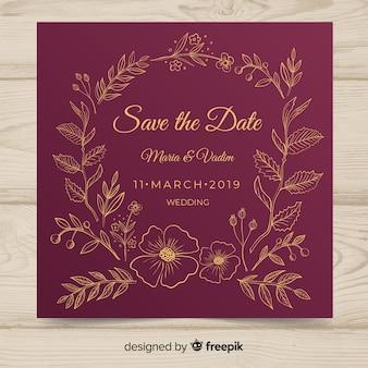 Plantilla de aceptación de invitación de boda