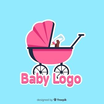 Plantilla adorable de logo de tienda de bebé