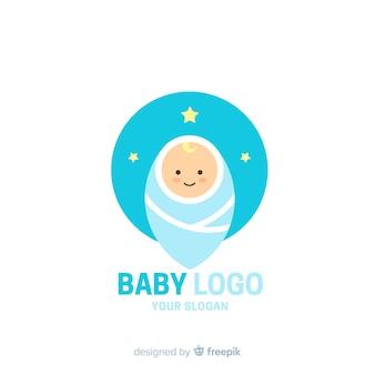 Plantilla adorable de logo de tienda de bebés