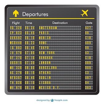 Plantilla de aeropuerto de salidas