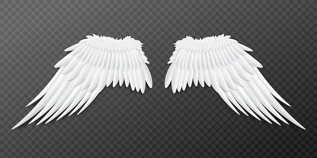 Plantilla de alas de ángel o pájaro emparejadas