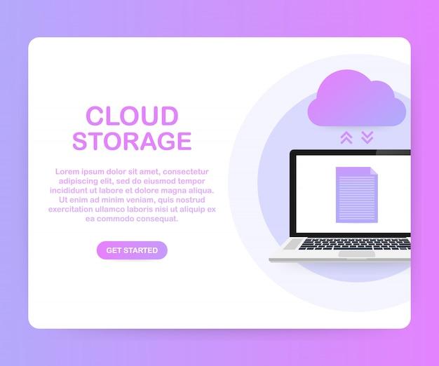 Plantilla de almacenamiento en la nube de protección de datos