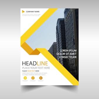 Plantilla amarilla de reporte anual corporativo