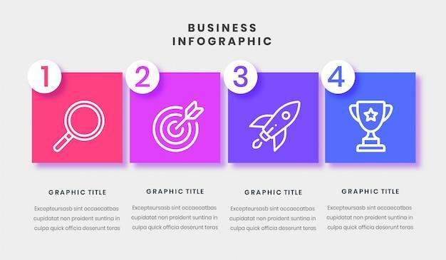 Plantilla de análisis foda de infograpic empresarial