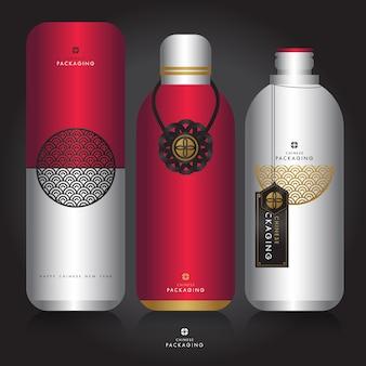 Plantilla de año nuevo chino y diseño de packaging