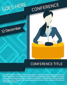Plantilla de anuncio de conferencia