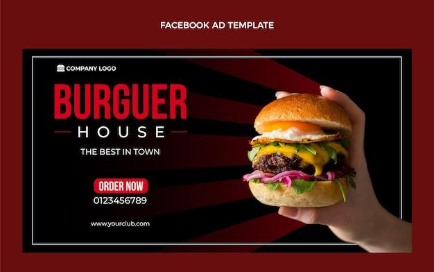Plantilla de anuncio de facebook de comida plana