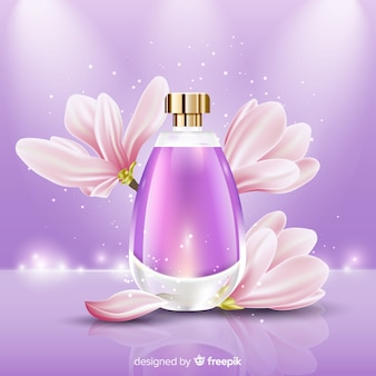 Plantilla de anuncio de perfume